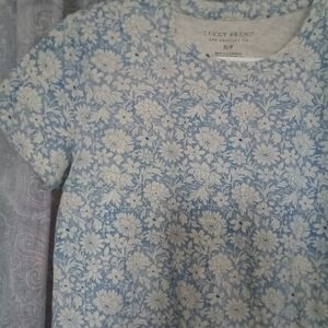 Blue Floral Lucky Brand Tee